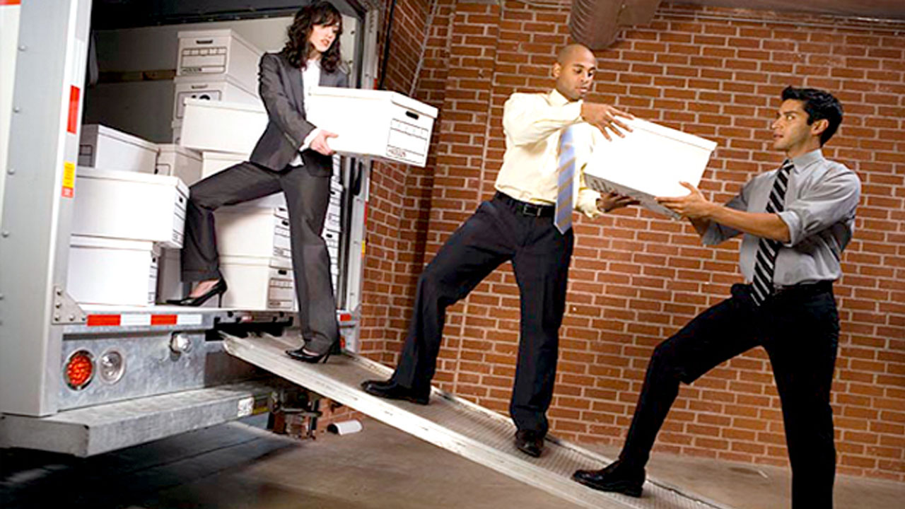 office removal services l leave the office relocation