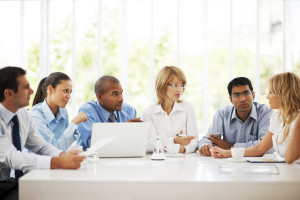 Serious group of successful businesspeople on a meeting.  [url=http://www.istockphoto.com/search/lightbox/9786622][img]http://dl.dropbox.com/u/40117171/business.jpg[/img][/url]